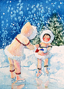 Childrens Book Paintings - The Figure Skater 2 by Hanne Lore Koehler