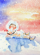 Sports Paintings - The Figure Skater 6 by Hanne Lore Koehler