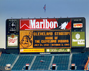 Cleveland Indians Stadium Prints - The Final Game 10.3.1993 Print by Kenneth Krolikowski
