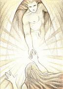 God Drawings Metal Prints - The Final Journey Metal Print by Amy S Turner