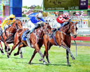 Horse Race Paintings - The Final Stretch by David Lloyd Glover