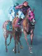 Kentucky Derby Painting Originals - The Final Stretch by John Henne