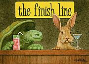 Humorous Prints - The Finish Line... Print by Will Bullas