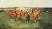 Entertainment Painting Prints - The Finish of the Two Thousand Guineas at Newmarket Print by Samuel Henry Alken