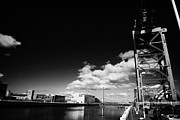 Glasgow Finnieston Crane Prints - the Finnieston Crane on stobcross quay on the river clyde in Glasgow Scotland U Print by Joe Fox