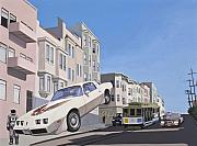 San Francisco Painting Metal Prints - The Firebird Metal Print by Scott Listfield