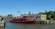 Fireboat Photos - The Fireboat Edward M Cotter by Joseph Rennie
