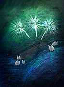 4th July Digital Art Posters - The Fireworks are Starting Poster by Jean Moore