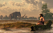 Prehistoric Digital Art - The First American Wildlife Artist by Daniel Eskridge