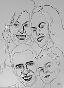Obama Family Drawings - The First Family by Michael Fields