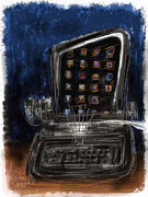 Typewriter Keys Mixed Media Prints - The first iPad Print by Russell Pierce