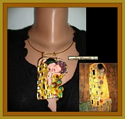 Nouveau Jewelry - The first piece from THE ART NOUVEAU COLLECTION - Gustav Klimt THE KISS Inspired Necklace by Cornelia Baciu