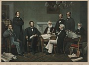 Cabinet Prints - The First Reading Of The Emancipation Print by Everett