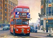 London Cityscape Art - The first Routemaster. by Mike  Jeffries