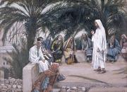 Teachings Painting Prints - The First Shall Be the Last Print by Tissot