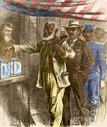 Colorized Prints - The First Vote, 1867 Print by Photo Researchers