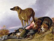 Canines Art - The First Watch by Richard Ansdell
