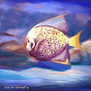 Scarpace Paintings - The Fish 2 by Gina De Gorna