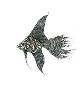 Extinct And Mythical Mixed Media Metal Prints - The Fish Metal Print by Zelde Grimm