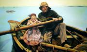 Jose Roldan Rendon Framed Prints - The fisherman Framed Print by Jose Roldan Rendon