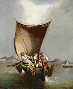 Sailboat Ocean Paintings - The Fishermans Family by Consalvo Carelli