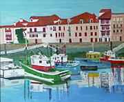 South West France Art - The Fishermans Harbour St Jean de Luz South West France by Bill White
