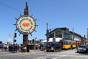 Vintage Buses Photos - The Fishermans Wharf Sign . San Francisco California . 7D14232 by Wingsdomain Art and Photography