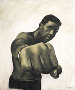 Black Art Pastels Prints - The Fist Print by L Cooper