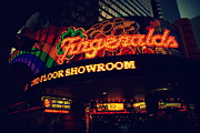 Fremont Street Framed Prints - The Fitzgerald in Down Town Las Vegas Framed Print by Susanne Van Hulst