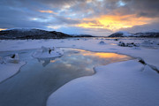 Sunset In Norway Photo Prints - The Fjord Of Tjeldsundet In Troms Print by Arild Heitmann