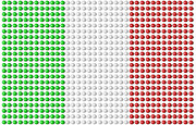 Italian Flag Posters - The Flag Of Italy, Made Up Of Pills Poster by RK Studio/Kevin Lanthier