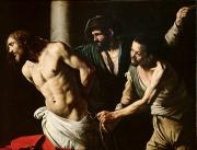 Caravaggio Painting Metal Prints - The Flagellation of Christ Metal Print by Caravaggio