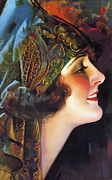Flapper Posters - The Flapper Girl Poster by Stefan Kuhn