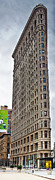 U.s. Metal Prints - The Flat Iron Building Metal Print by John Farnan