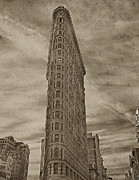 Flat Iron Framed Prints - The Flat Iron Building Framed Print by Kathy Jennings