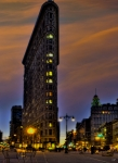 Flatiron Framed Prints - The Flatiron Building at Dusk Framed Print by Chris Lord