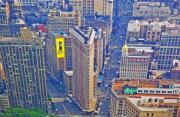 Billboard Signs Prints - The Flatiron Building Print by Sharla Gentile