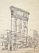 Broadway Drawings Posters - The Flatiron Poster by Wade Hampton