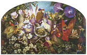 Baby Bird Painting Prints - The Fledging Print by John Anster Fitzgerald