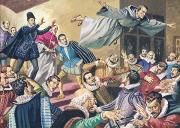 The Flight Of Father Dominic Print by English School