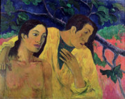 Gauguin Posters - The Flight Poster by Paul Gauguin
