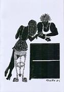 The Flirt Print by Rhetta Hughes