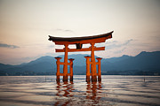 Floating Torii Framed Prints - The Floating Torii Framed Print by Ei Katsumata