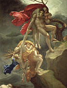 Flood Painting Posters - The Flood Poster by Anne Louis Girodet de Roucy-Trioson