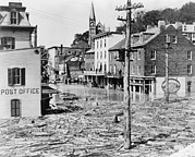 West Virginia History Framed Prints - The Flood Of 1942, In Harpers Ferry Framed Print by Everett