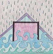 Rain Drawings - The Flood by Tam Ishmael - Eizman