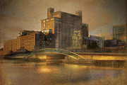Old Mills Prints - The Flour Mills Dublin Ireland Print by Mark Richards
