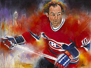 Hockey Painting Originals - The Flower by Gary McLaughlin