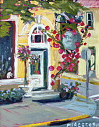 2011 Painting Prints - The flower shop Print by Mercedes Docalavich