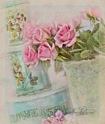 The Flower Shop  Print by Sandra Rossouw